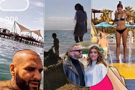 Místo lockdownu tropický ráj:  Rytmus s Jasminou prchli před covidem k moři!