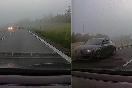 Nabušená audina vyrazila na dálnici: Řítila se po ní v protisměru!