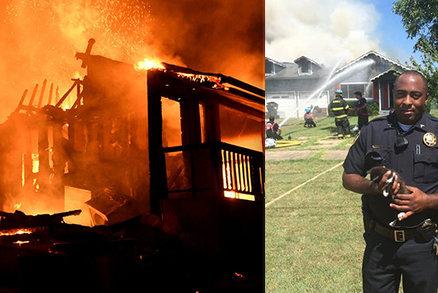 Hrdinný policista zasahoval u požáru vlastního domu: Z ohně zachránil celou svou rodinu