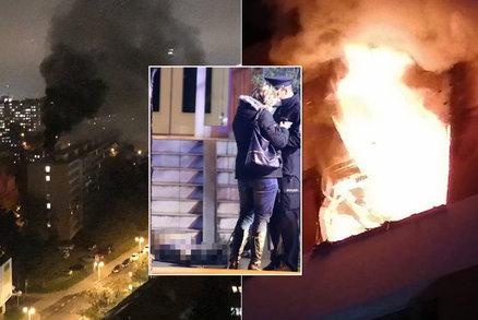 V Praze 4 hořel byt: Jednomu muži se zastavilo srdce, kouř bylo vidět z dálky