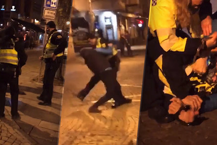 Drsné video ze Stodolní v Ostravě: Strážník použil na muže slzný plyn, ten si to nenechal líbit