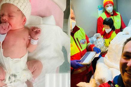Do porodnice už to rodiče nestihli: Malá Zoe se narodila na benzínce