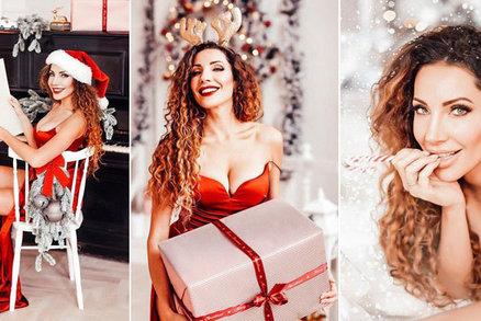 Sexy Vánoce podle Olgy Lounové: Rudý korzet praskal ve švech pod náporem bujných vnadů!