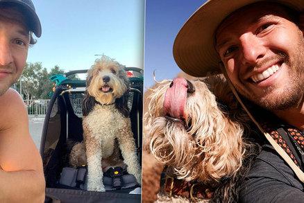 """Muž cestuje přes celé Spojené státy se psem na zádech. """"Je to můj nejlepší kámoš,"""" říká"""