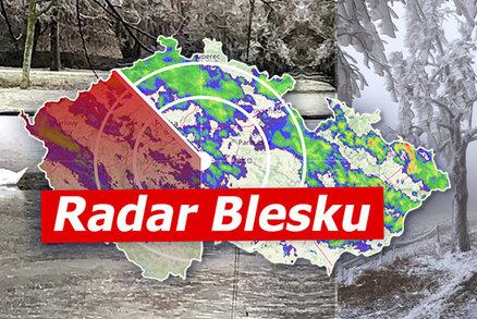 Na Česko udeří mráz, teploty spadnou k -18 °C. A přijde i sněžení, sledujte radar Blesku