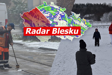 Teploty v Česku spadly k -22 °C. Třeskuté mrazy vystřídá déšť a ledovka, sledujte radar Blesku
