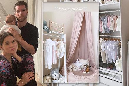 Luxusní pokojíček dcerky (3 měsíce) Majka Spirita: Růžové odstíny i baldachýn! Jako pro princeznu