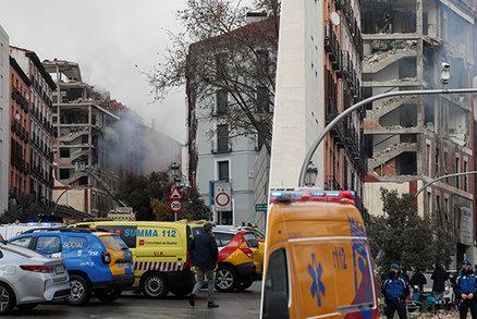 Masivní exploze v Madridu: Poničila několikapatrový dům!