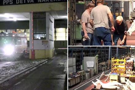 Tátu (†57) tří dětí v továrně rozdrtil lis: Tělo museli z jámy dostat hasiči