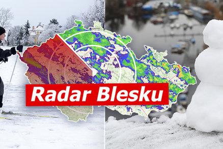 V pátek až 10 °C, pak přijde sněhová kalamita a vichřice. Sledujte radar Blesku