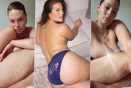 Plus size kráska Ashley Grahamová nahá! Hrdě odhalila i pomerančovou kůži a faldíky