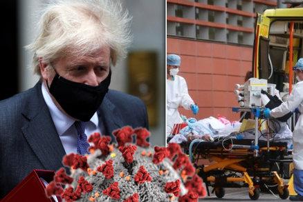 Britská mutace viru je asi smrtelnější, překvapil Johnson. Studie ukázala více obětí