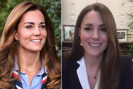 Britové tleskají Kate za úžasné gesto! Stačil malý detail z videohovoru...