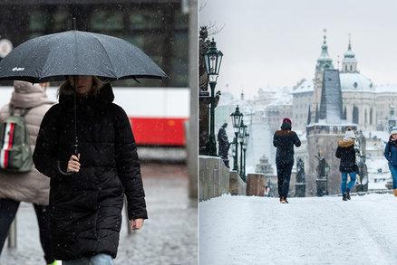 Počasí jako na houpačce. Sníh vystřídá v druhé polovině týdne oteplení a déšť