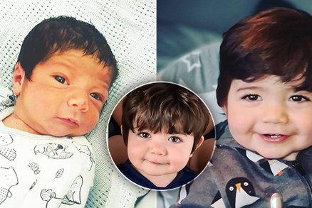 Narodil se předčasně, zato s hustou tmavou kšticí: Z miminka je už v 15 měsících malý fotomodel