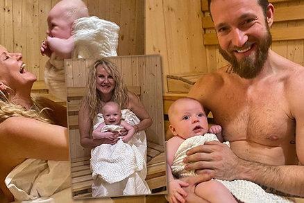 Vendula Pizingerová vzala čtyřměsíčního Josífka do sauny! Je to bezpečné?