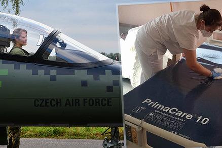 Vojákyně Michaela vyměnila práci u stíhaček za nemocnici: Chybí mi hluk motorů, přiznává