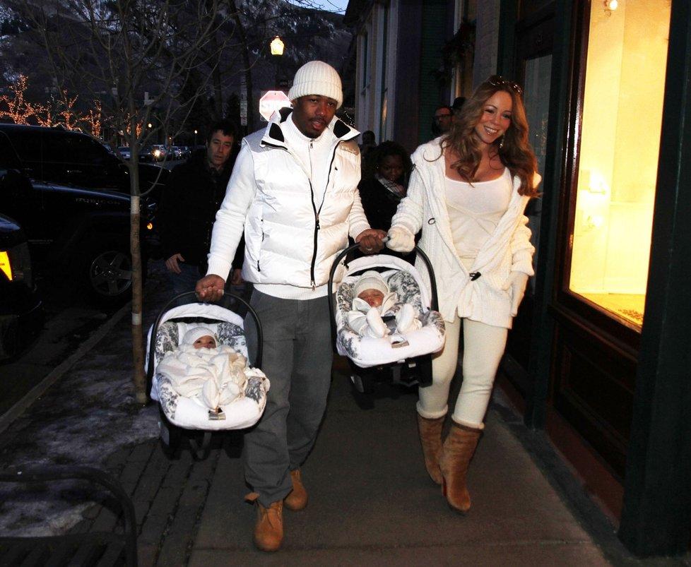 Mariah Carey s dvojčátky, které přišly na svět loni