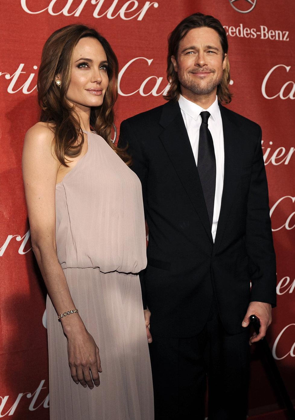 Angelina Jolie a Brad Pitt jsou často hlavními hvězdami večera.