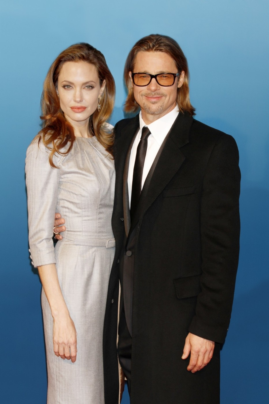 Angelina s Bradem v roce 2013.