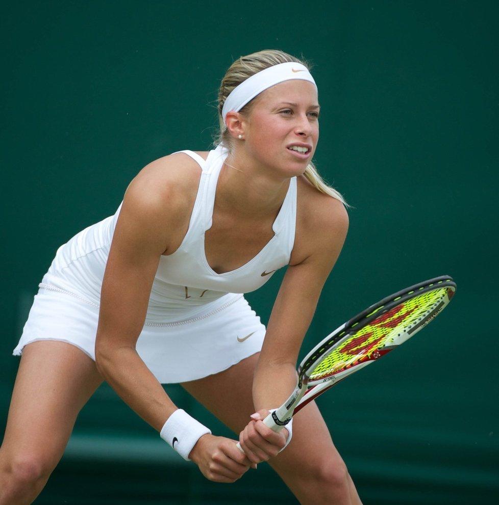 Andrea Hlaváčková ve Wimbledonu