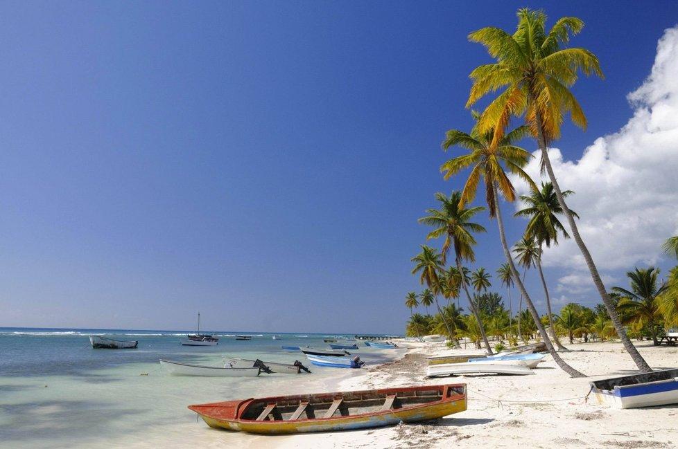 Proslulá pláž Saman v Dominikánské republice