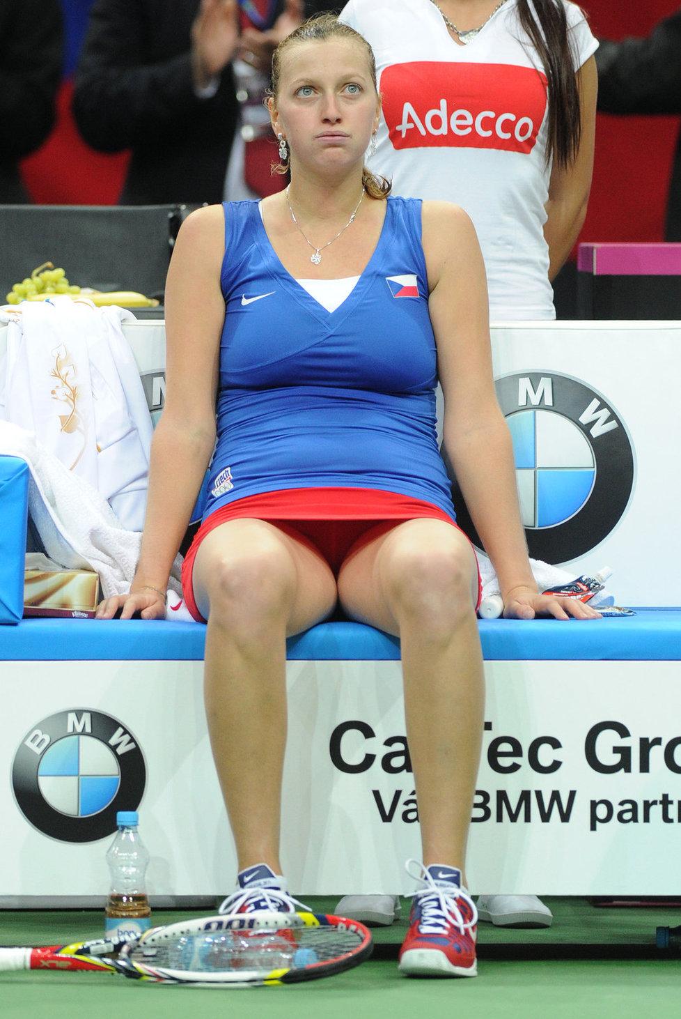Šťastná Petra Kvitová po vítězném zápase