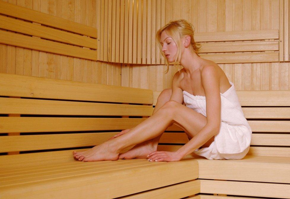Sauna nabízí příjemné odreagování.
