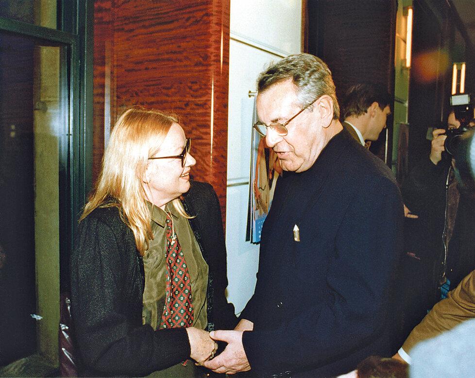 Exmanželé Jana Brejchová a Miloš Forman