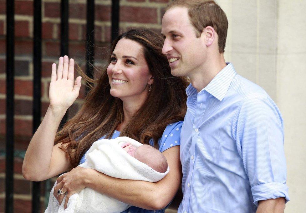Kate, William a jejich prvorozený syn