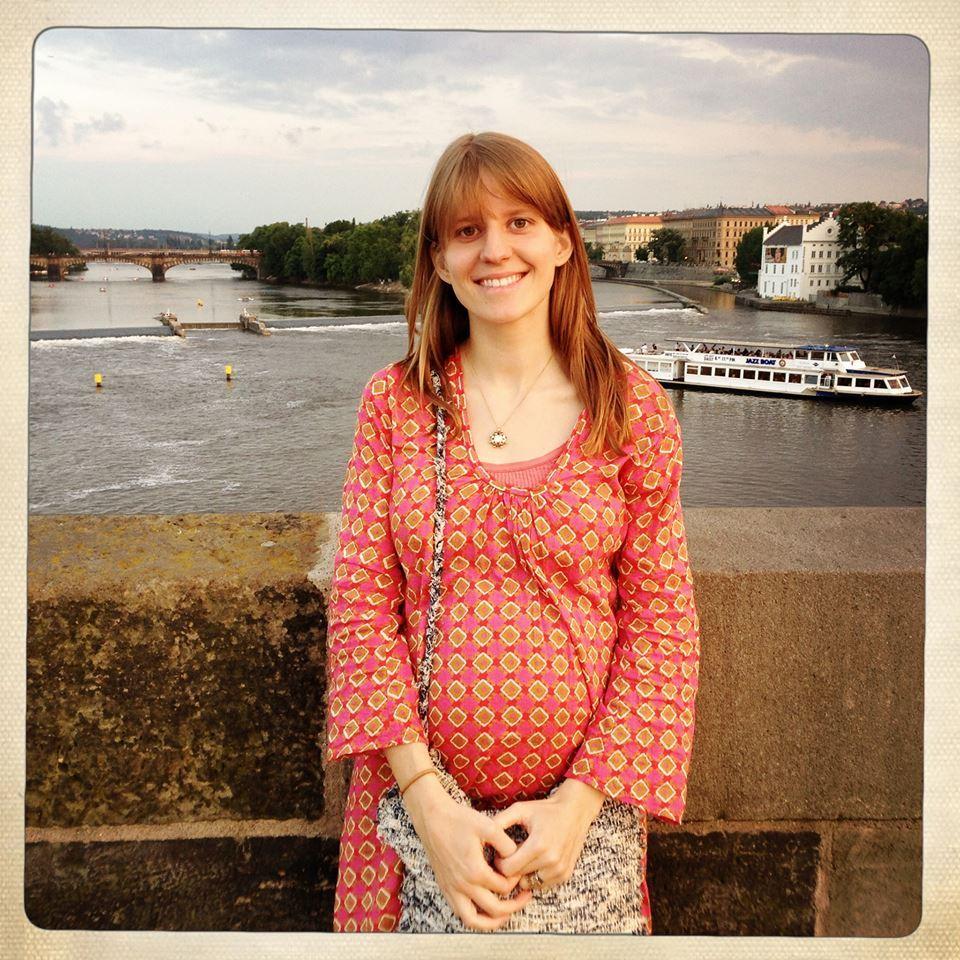 Markéta Irglová v sedmém měsíci těhotenství.