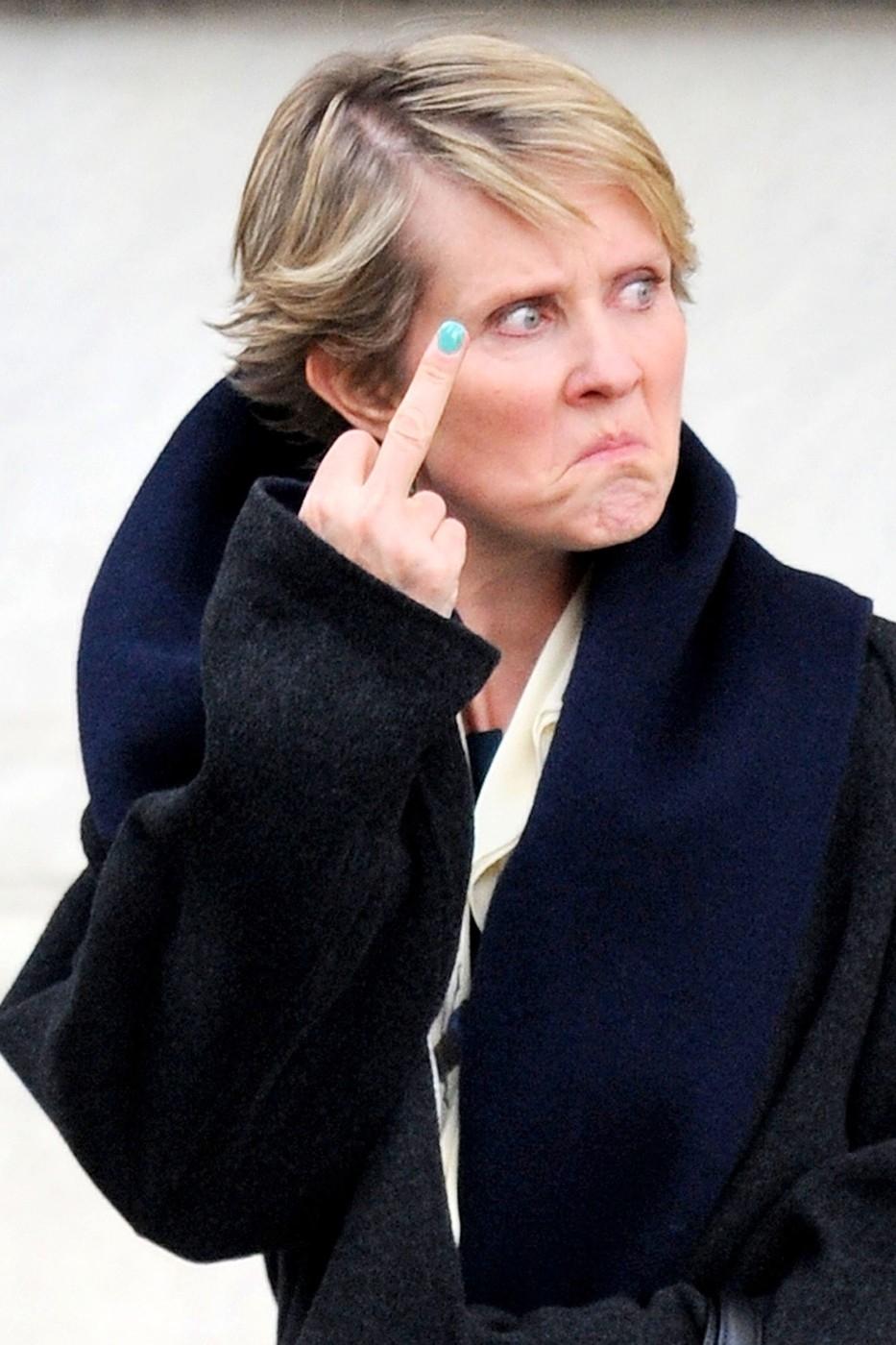 Cynthia Nixon se dokáže pěkně zaksichtit