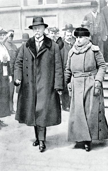 T. G. Masaryk s manželkou Charlotte.