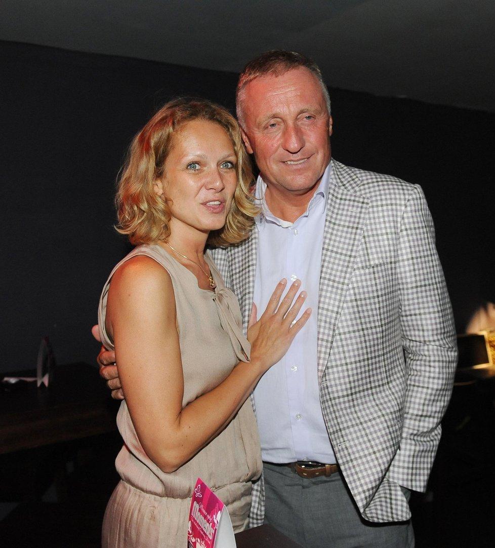 Mirek Topolánek s Lucií Talmanovou