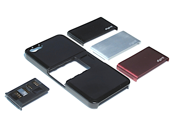 Díky zásuvnému modulu do slotu pro SIM kartu zvládne váš iPhone 5 rázem SIM  karty dvě 53f5e0d8b1f