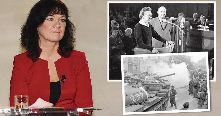 Poslankyně KSČM Marta Semelová hodnotila v TV proces s Miladou Horákovou či okupaci sovětskými tanky