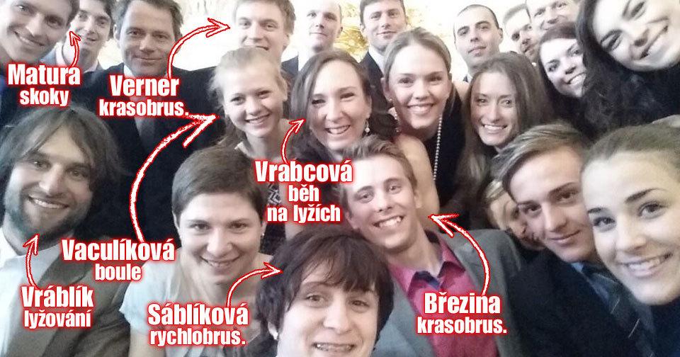 Sáblíková pořídila selfie: Olympijští sportovci na Hradě