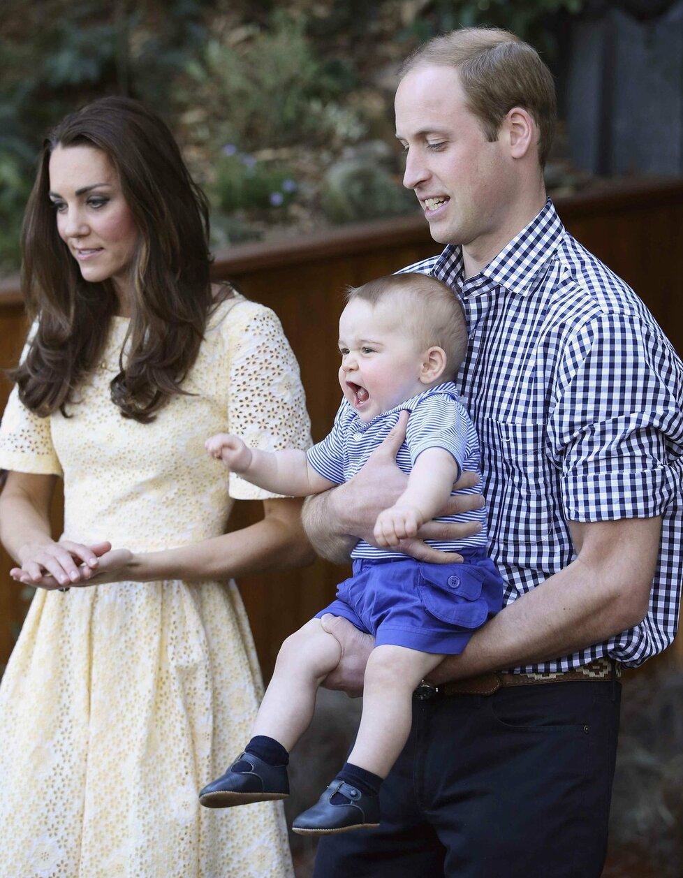 Princ George s rodiči