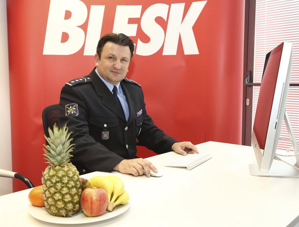 Policejní prezident Tomáš Tuhý v redakci Blesk.cz