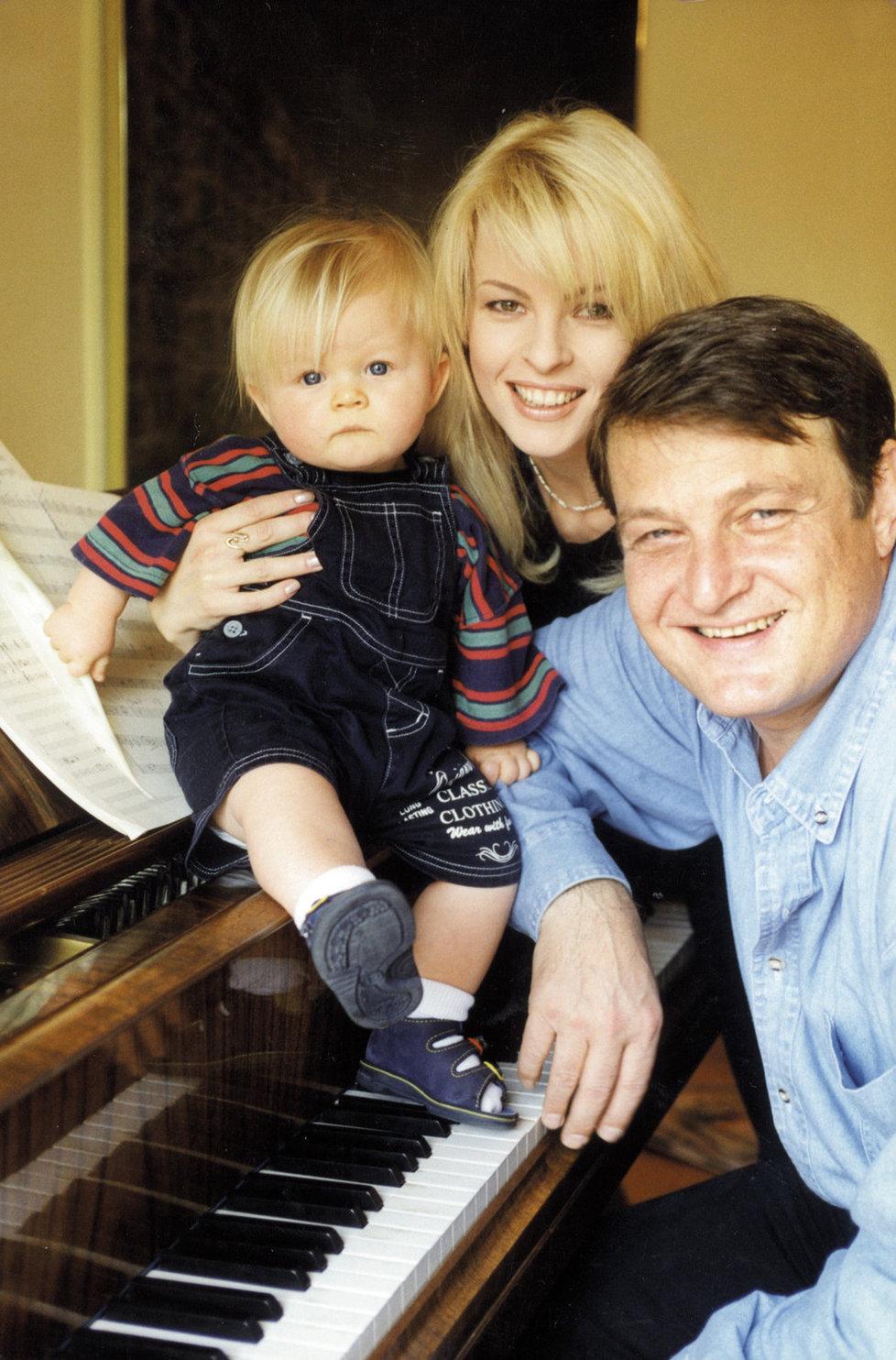 Artur Štaidl s rodiči