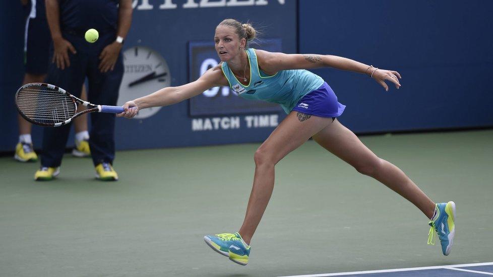Karolína Plíšková na US Open nestačila na soupeřku a prohrála.