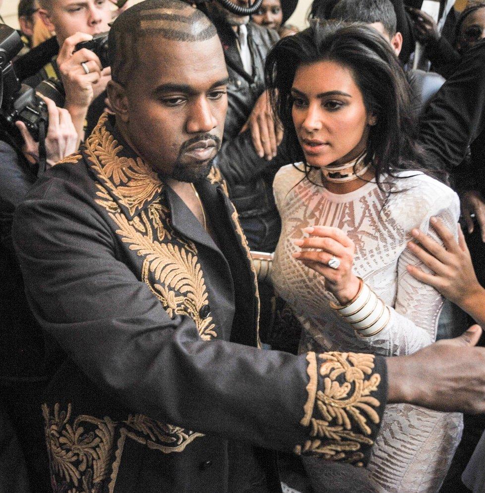 Kim Kardashian a Kanye West.