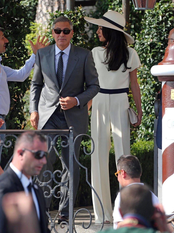 George vypadal v Benátkách, ostatně jako vždy, stylově!