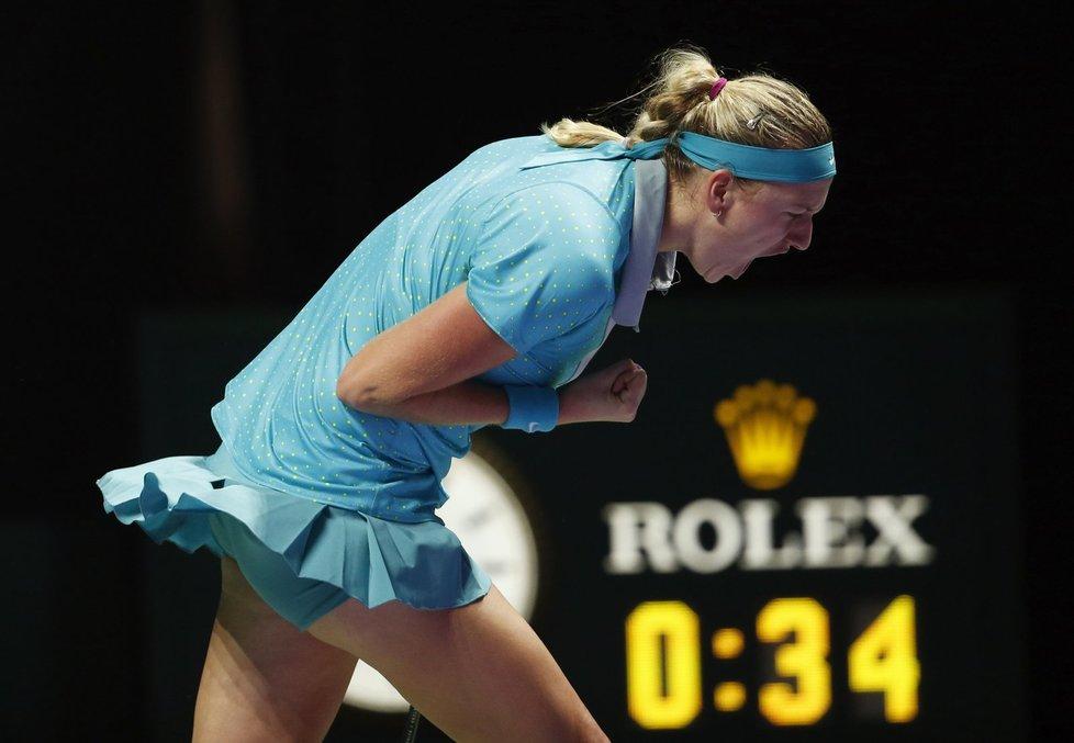 Petra Kvitová byla oproti prvnímu zápasu k nepoznání.