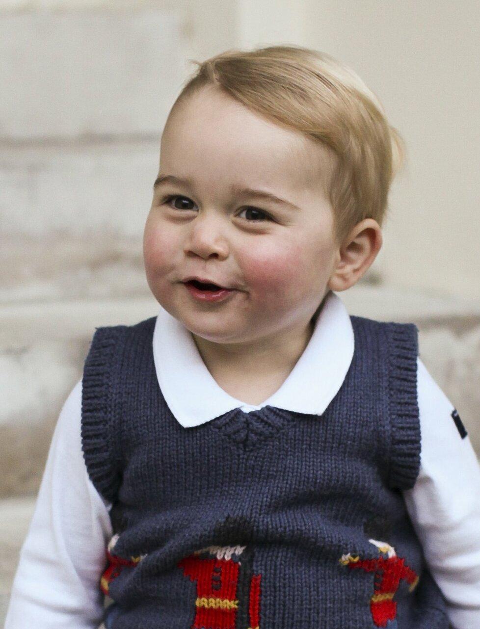 Budoucí britský panovník - princ George.