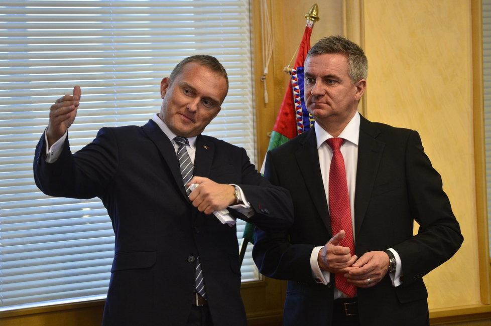 Zeman v Plzni: Prezidentovi muži Vladimír Kruliš a Vladimír Mynář