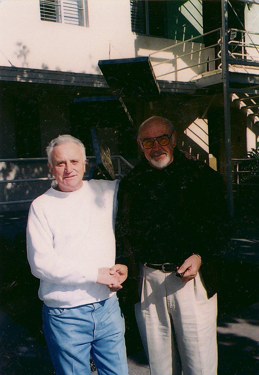 Kabourek se potkal i se Seanem Connerym, legendárním představitelem agenta 007 Jamese Bonda.