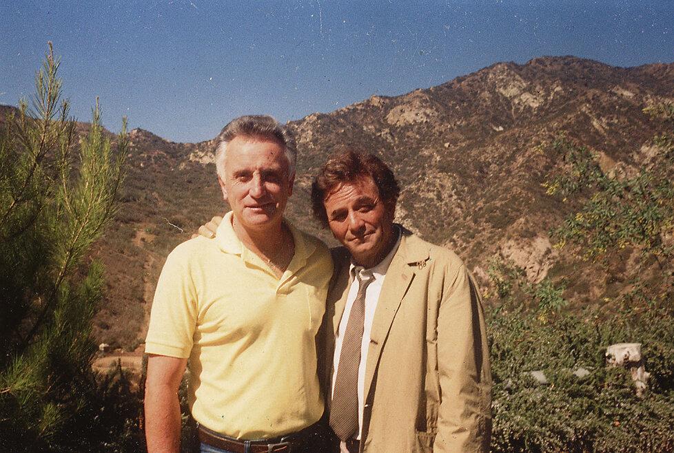 S Peterem Falkem při natáčení seriálu Columbo na počátku 90. let.