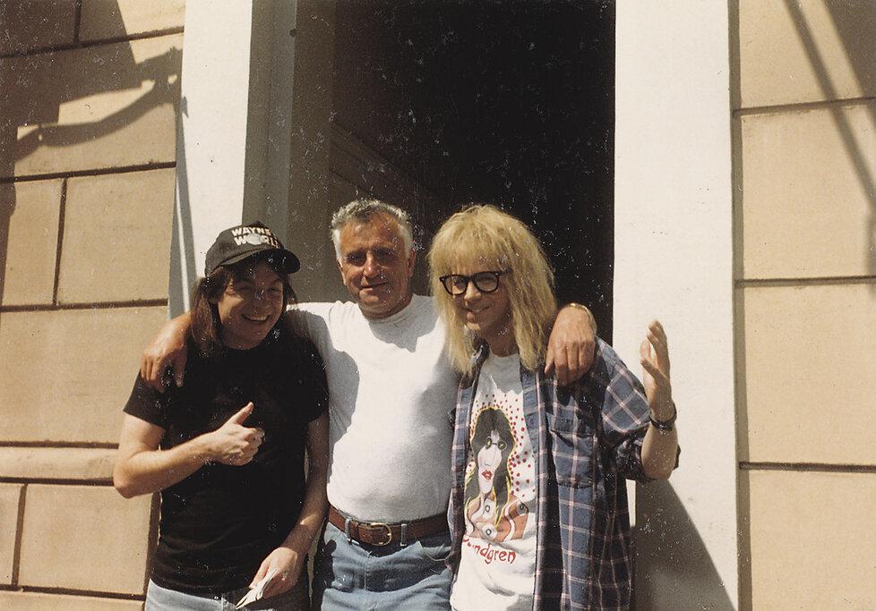Herci filmu Waynův svět - Mike Myers (vlevo) a Rob Lowe.