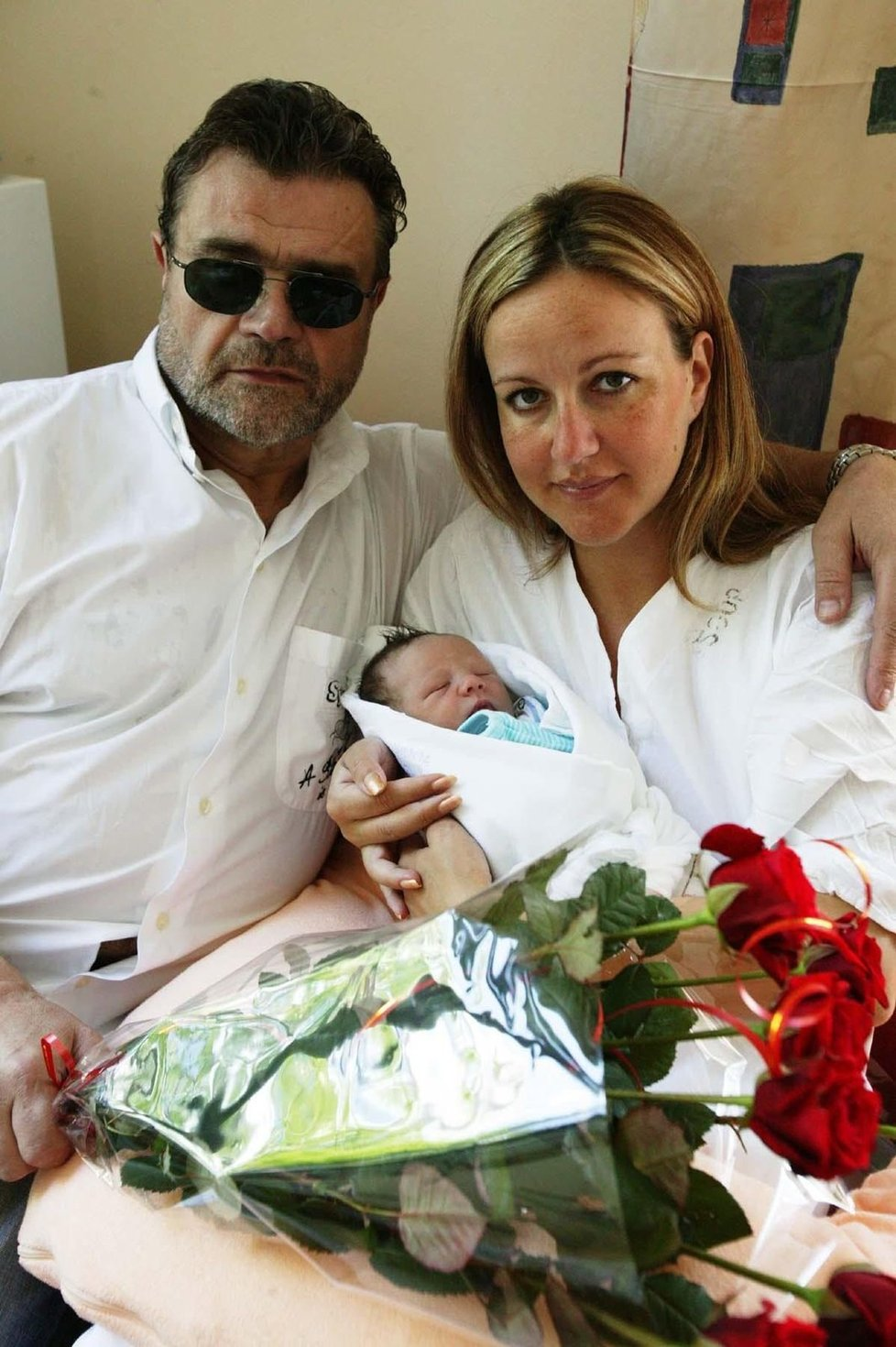 Karel s Vendulou a s Jakubem v porodnici